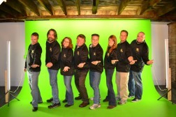 crew on the green screen