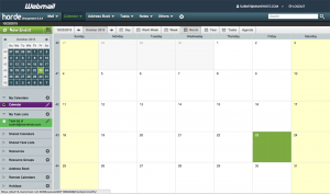 Horde Webmail calendar