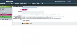 Horde Webmail settings