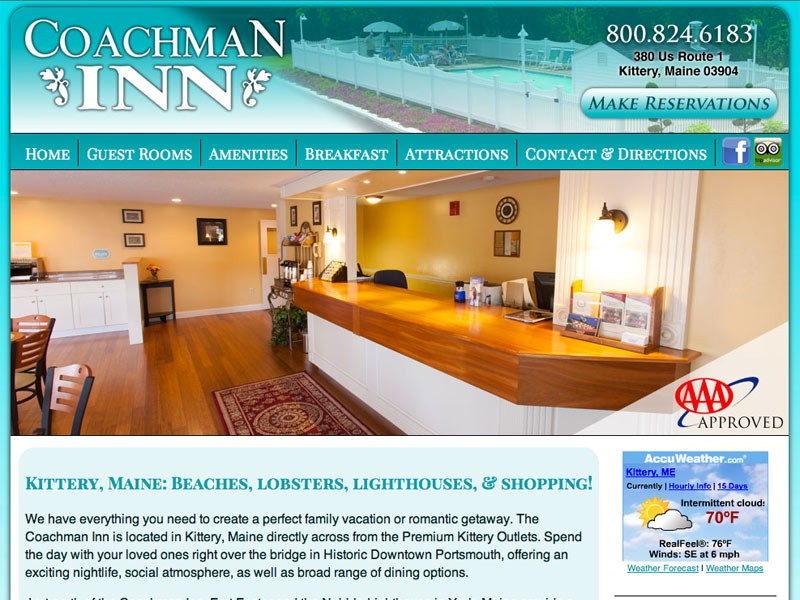Maine Lodging Web Design