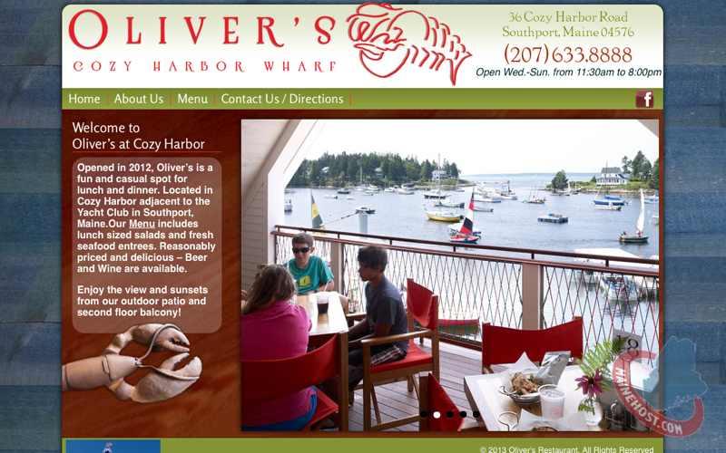 Maine Restaurant Web Design