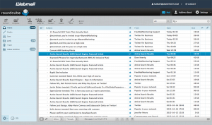 Roundcube Webmail inbox