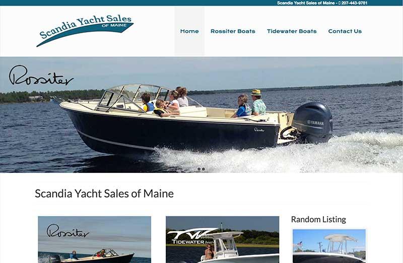 acadia yachts wordpress website